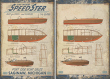 Vintage Speedboat Tapestry Wall Art example