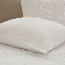 Bahama Palms Tufted Chenille Queen Coverlet Set shams and coverlet