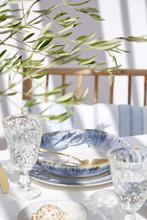 Brisa Ria Blue Pasta Bowls tabletop image