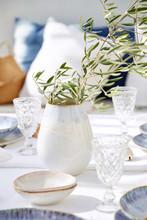 Brisa Salt and Sea Oval Vase table top image