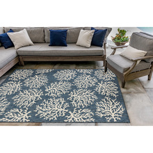 Coral Branch Navy Blue Carmel Rug room image 2