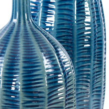 Big Sur Blue Vases - Set of 2 close up view