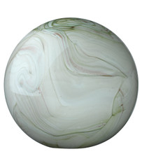 Glass Float Balls in Sage Swirl Glass large