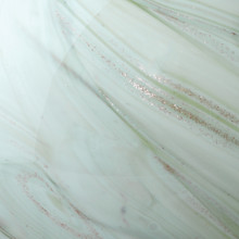 Glass Float Balls in Sage Swirl Glass close up 2