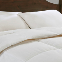 Light Warmth Oversized Down Comforter Insert - King Size  close up view
