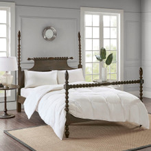 Light Warmth Oversized Down Comforter Insert - King Size  view 2