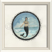 Porthole to the Mermaid in the Waves