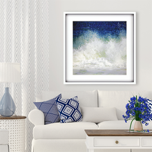 Splish Blue Wave Modern Art  room image