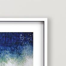 Splish Blue Wave Modern Art  close up