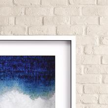 Splash Blue Wave Modern Art corner