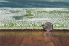 Turquoise Abstract Watercolors Rug pile