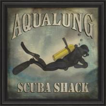 Aqualung Scuba Shack Beach Poster Wall Art