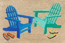 Seaside Adirondack Chairs Door Mat