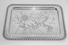 Latitudes Large Gulf Shores Serving Tray