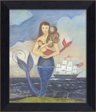 Celebrating Belle Blue Tailed Mermaid Art