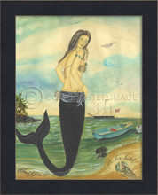 I've Been Spotted - Small Framed Mermaid Art