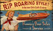 Rip Roaring Chris Craft Style Sign