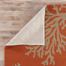Coral Orange Branch Out Area Rug 2