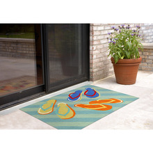 2 x 3 view flip flop rug