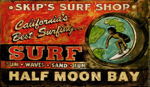 Custom Vintage Surf Shop Sign
