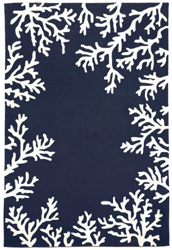 Blue And White Nautical Images Hooked Rug Caron S Beach