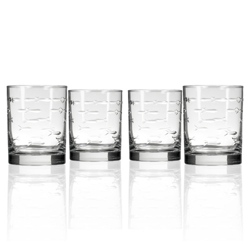 School of Fish DOF Glassware - Set of 4 group shot