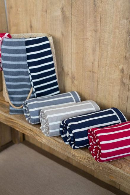 Striped knit throws - assortment