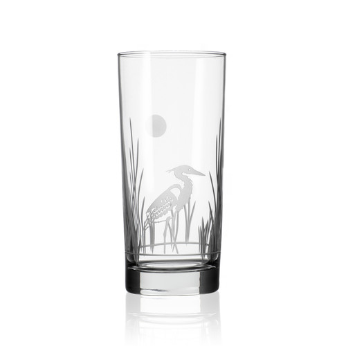 Heron Etched Cooler Glass- Set of 4