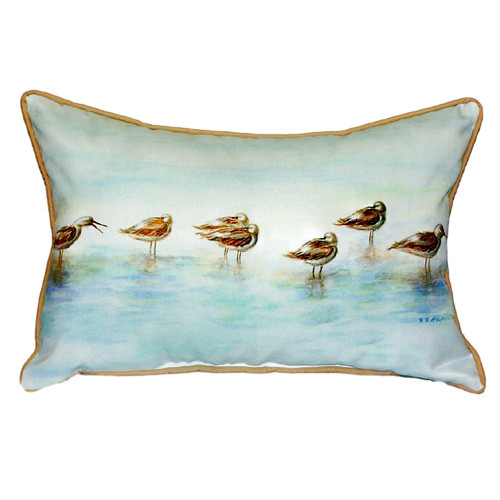 Seabirds by the Shore Pillow