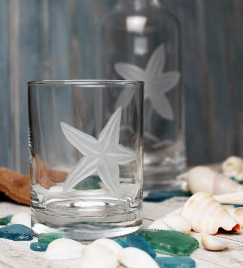 Starfish Etched DOF Glasses - Set of 4