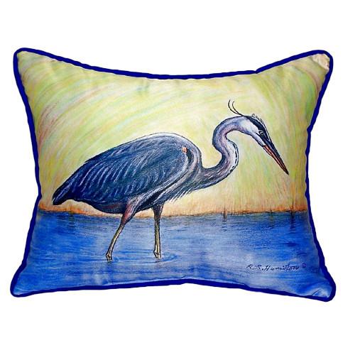 Beautiful Blue Heron Beach Pillow