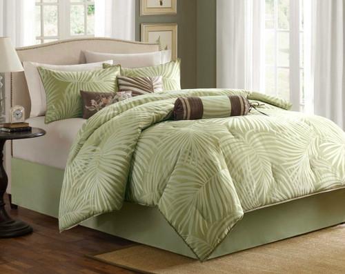 Bermuda Leaf Comforter Set - Queen Size