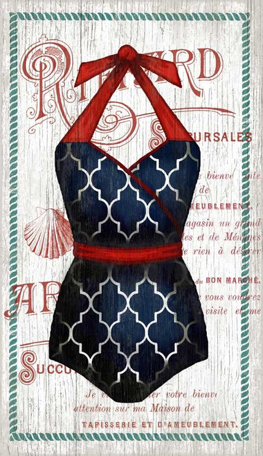 The Blue Halter Swimsuit Custom Art
