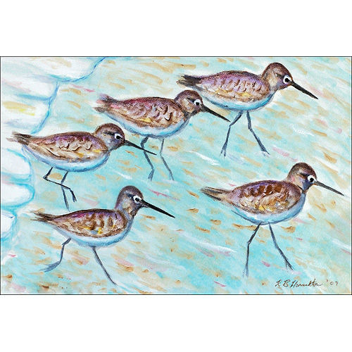 Sand Pipers by the Shore Floor Mat