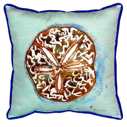 Teal Sand Dollar Coastal Pillow