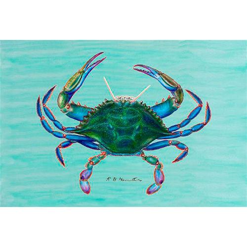 Blue Crab Image Floor Mat