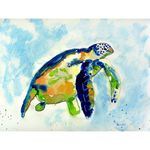 Island Blue Sea Turtle Placemats - Set of 4