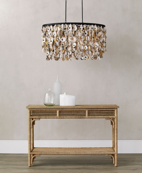 Stillwater Oyster Shell Chandelier room view