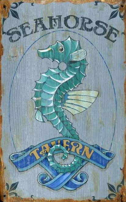 Seahorse Tavern Custom Beach Sign