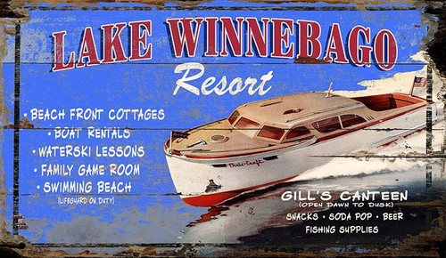 Lake Winnebago Custom Art Sign
