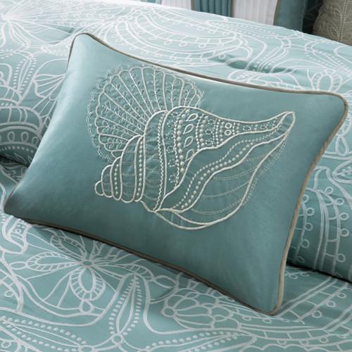 Carmel by the Sea Blue 7-Piece Comforter Set close up