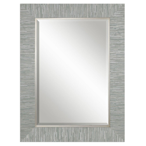 Belaya Gray-Blue Wood Mirror main image
