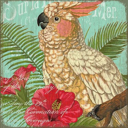 Tropical Resort Cockatoo Art
