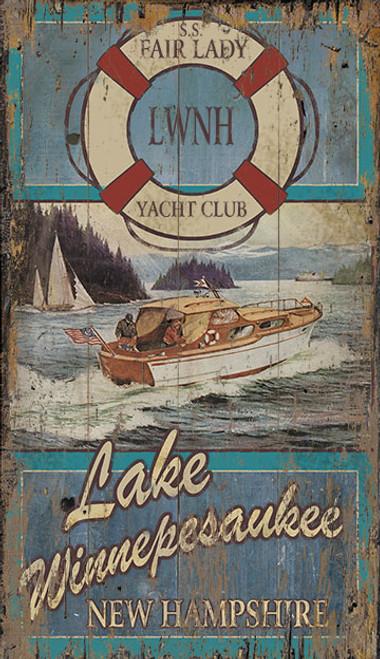 Fair Lady Yacht Club Sign