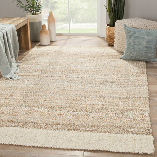 Mallow Bordered Tobago Natural Jute Area Rug room view
