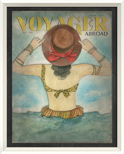 Voyager Abroad Art - July 1989 - white frame