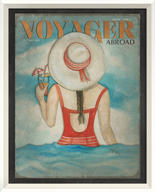 Voyager Abroad Art -  May 1991 - white frame