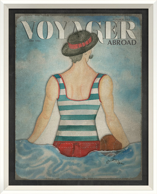 Voyager Abroad Art - May 1992 - white frame