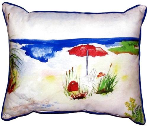 Red Beach Umbrella Pillow