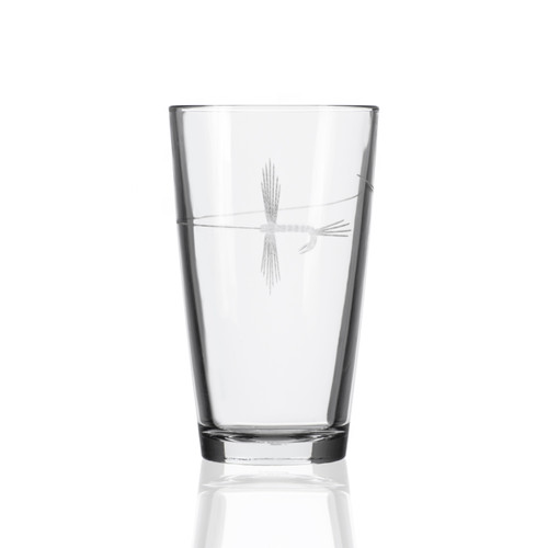 Fly Fishing Etched Pint Glasses - Set of 4 single image